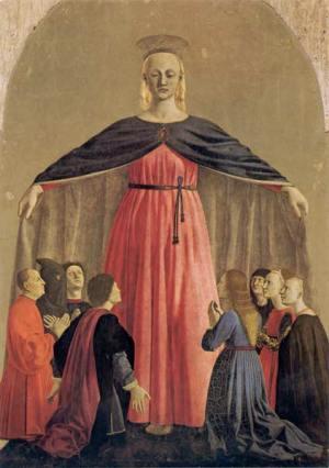Piero della Francesca - Polittico della Madonna della Misericordia 1445-1462 Olio su tavola Proveniente dalla chiesa della Misericordia di Sansepolcro
