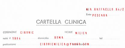 Cartella Clinica - Millica Civic - (clicca per saperne di più)