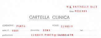 Cartella Clinica - Claudio Panto' - http://etranger.it/