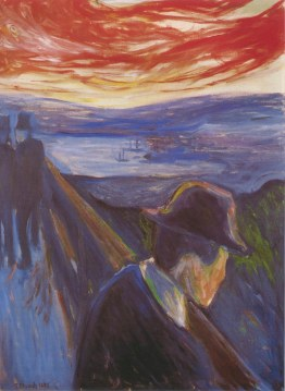 Disperazione - Edvard Munch (1892) olio su tela ; 92 x 67. Stoccolma, Thielska Galleriet. (da web)