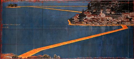 The floating piers Christo e Jeanne - Claude Fino al tre luglio @Lago d'Iseo presa da: https://mincioedintorni.com/
