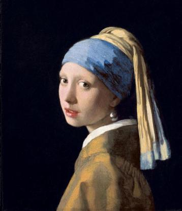 Johannes Vermeer, Ragazza col Turbante (Ragazza con l'orecchino di perla), 1665-1666 circa, olio su tela, 44,5×39 cm, L'Aia, Mauritshuis (web)