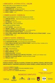 appuntamenti_Contemporary Festival di musica e arte d'avanguardia direzione artistica di Maurizio Coccia e Roberto Follesa 26 / 27 agosto 2016 | Donori (CA)