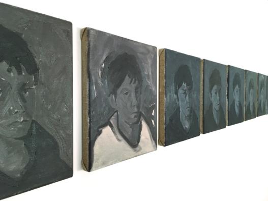 ALESSIA ARMENI, SUE KENNINGTON, MARTA MANCINI, ANDREA PANARELLI SCIVOLARE LENTAMENTE a cura di Alessia Armeni, Yellow, Citofono Zentrum - VARESE (manifesto)