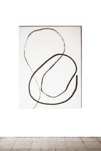 Simone Camerlengo, Senza titolo bw, 2016, acrilico e grafite su tela 120x160 cm