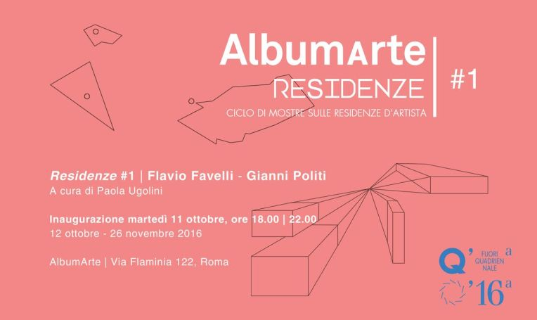 Residenze #1 | Flavio Favelli - Gianni Politi, 12 ottobre, AlbumArte - Roma