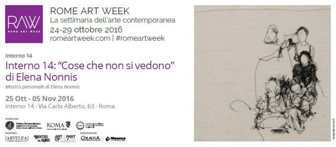"""""""Cose che non si vedono """" di Elena Nonnis, Interno 14, Roma (Invito Rome art week)"""