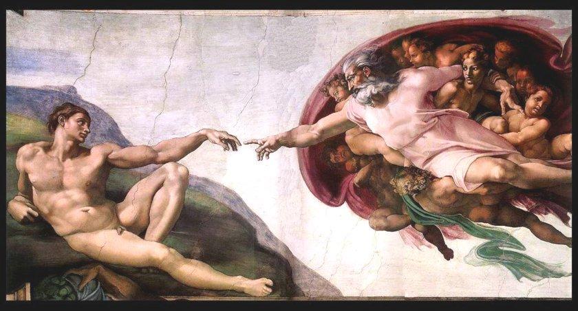 Michelangelo Buonarroti, La creazione di Adamo, 1511, affresco - cappella Sistina, Roma (immagine presa dal web)