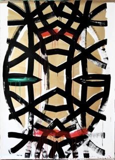 """Equatoriale, 2016, acrilico-su-tela-220x160 - STEFANO IRACI """"PAREIDOLIA"""", 24 novembre, Centro Luigi Di Sarro - Roma"""