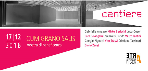 Cum Grano Salis. Giornata di cultura e solidarietà, 17 dicembre, Galleria Galleria Cantiere - Ascoli Piceno