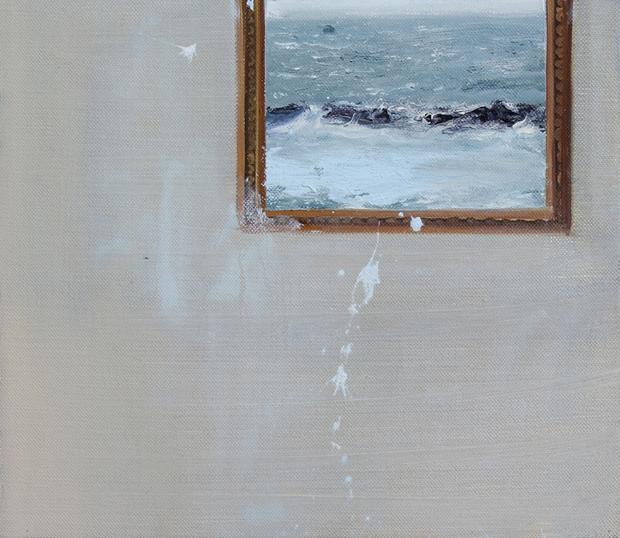 Coestensione n 3, 2016, olio su tela, cm 30x25