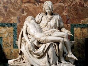 Michelangelo Buonarroti, Pietà, San Pietro in Vatia pietà di Michelangelo, Pietà, Basilica di San Pietro, Roma,1497-99 (immagine presa dal web)