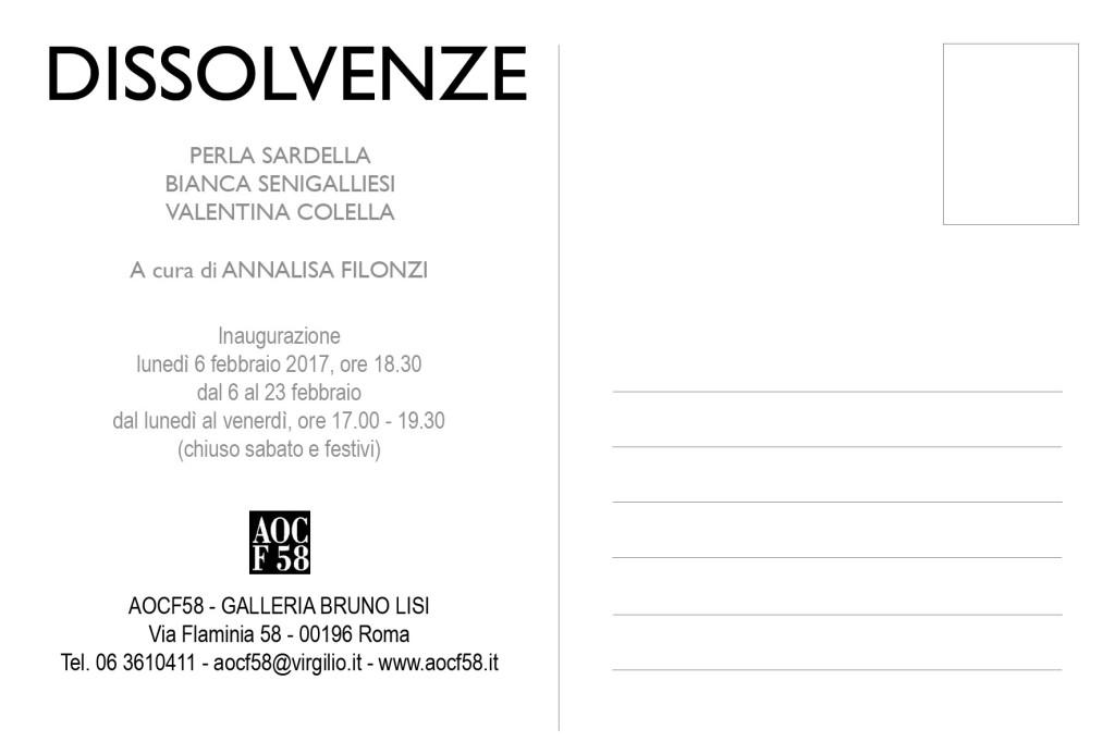 DISSOLVENZE - COLELLA, SARDELLA, SENIGALLIESI, 6 febbraio, AOCF58 -Roma