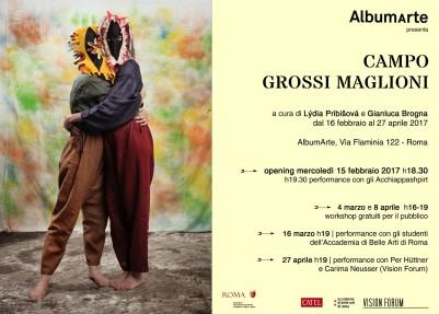 Campo Grossi Maglioni, 15 febbraio, AlbumArte (invito)