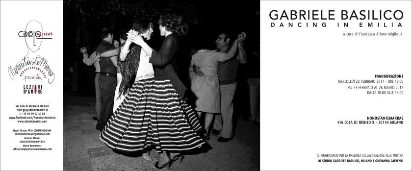 GABRIELE BASILICO, DANCING IN EMILIA, 22 febbraio, NONOSTANTE MARRAS - Milano (invito)