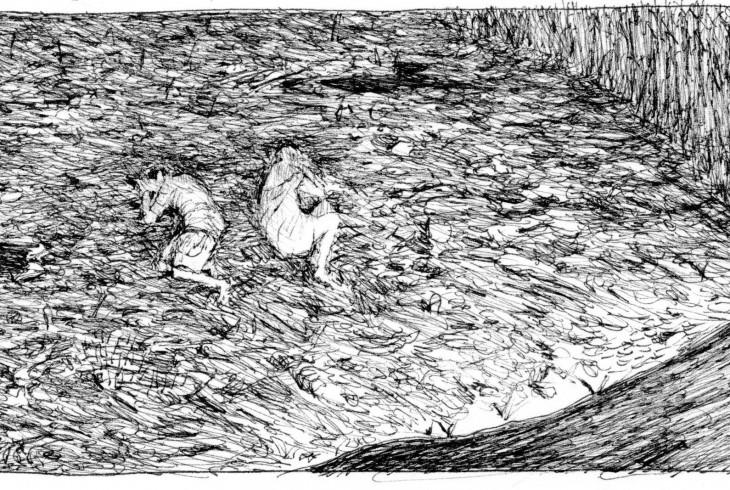 GIPI, La terra dei figli, Coconino press - Fandango, 2016 (striscia) ph. Amalia Temperini