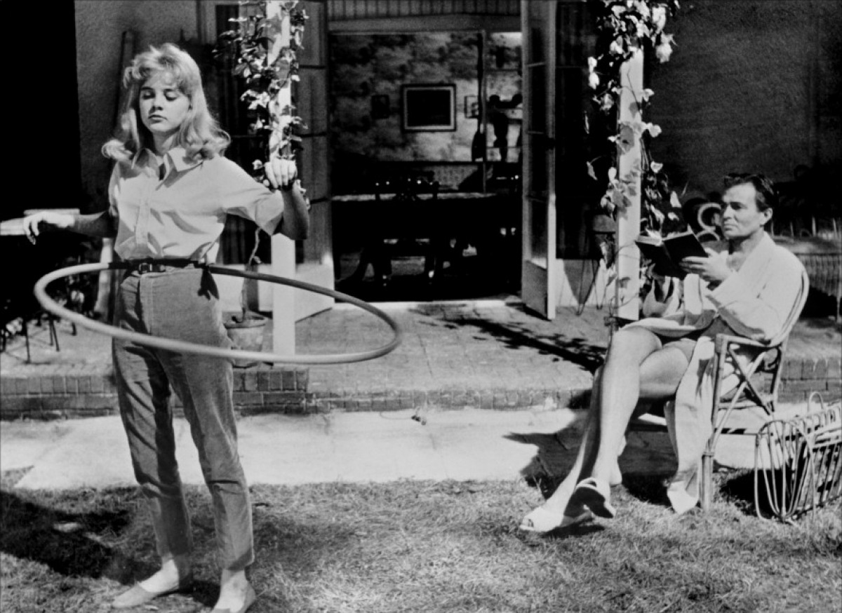 Sue Lyon and James Mason in Lolita directed by Stanley Kubrick, 1962 (web)