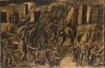 19. Mario Sironi L'Italia fra le Arti e le Scienze (noto come Mussolini a cavallo), (1935) Studio preparatorio per l'affresco dell'Aula Magna della Sapienza di Roma Mart, Collezione Allaria