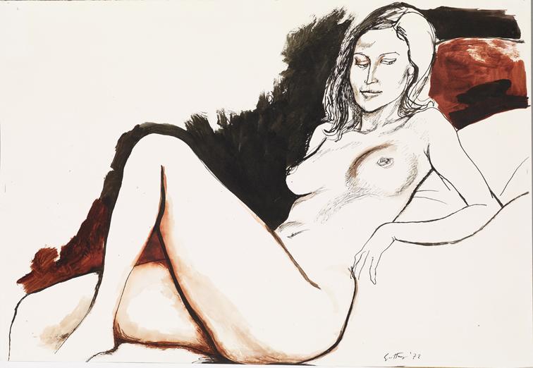 4. Renato Guttuso Nudo femminile sdraiato, 1972 Mart, Collezione Allaria