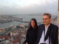 Grazia Toderi e Orhan Pamuk foto di Antonio Maniscalco
