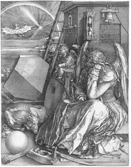 Albrecht Dürer, Melancholia, 1514,Stadel Museum - photograph: Wikimedia Commons