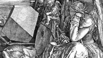 Albrecht Dürer, Melancholia, 1514, Stadel Museum - photograph: Wikimedia Commons - dettaglio