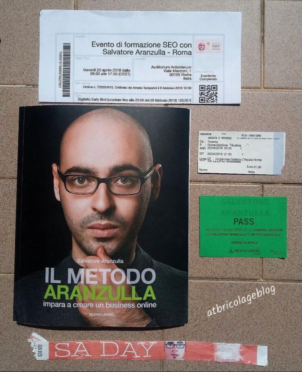 ll metodo Aranzula + Aranzulla day _tickets + libri -ph Amalia Temperini