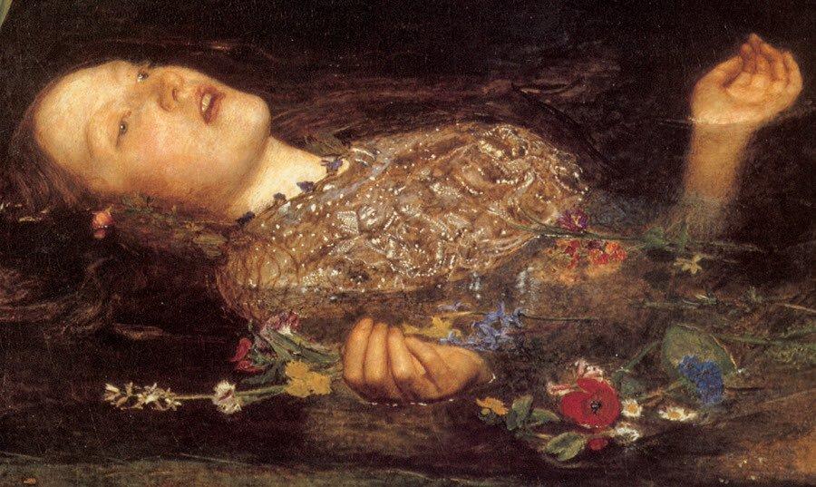 Ophelia (1852) (dettaglio) di John Everett Millais (1829-1896)