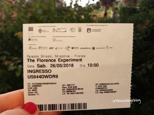 Ticket, Carsten Höller - Stefano Mancuso, The Florence Experiment a cura di Alberto Galasino (dettaglio), Palazzo Strozzi, Firenze, maggio 2018 - ph. Amalia Temperini