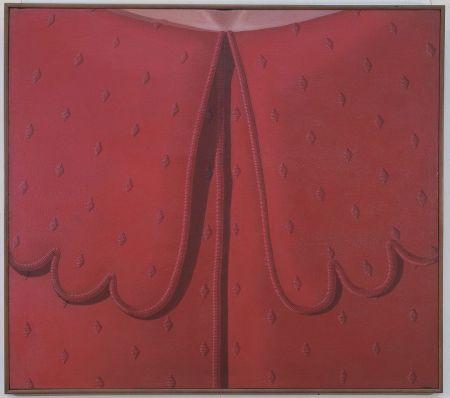 4.11 Domenico Gnoli (Roma 1933-New York 1970) Red Dress Collar, 1969, acrilico e sabbia su tela, cm 150 x 170. Roma, Collezione privata. Domenico Gnoli, by SIAE 2018