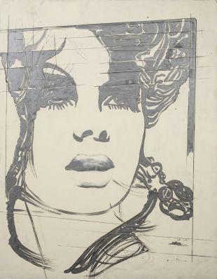 5.5 Giosetta Fioroni (Roma 1932) La modella inglese, 1969, smalto su tela, cm 180,5 x 140,7. Roma, Galleria Mucciaccia Foto Giuseppe Schiavinotto.