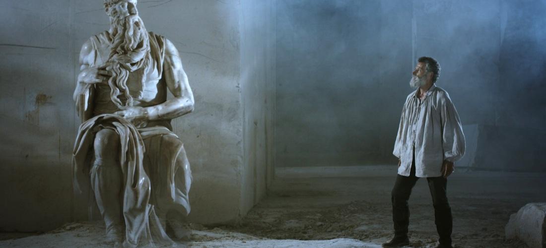 Michelangelo - Infinito di Emanuele Imbucci, 2018 (ph. presa da Sky tg 24)