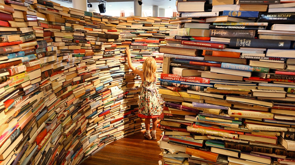 Un labirinto di libri (Getty Images)