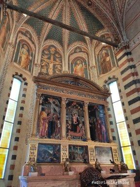 Andrea Mantegna, Basilica di San Zeno, Verona - Dettagli interni dall'altare maggiore - ph. Amalia Temperini