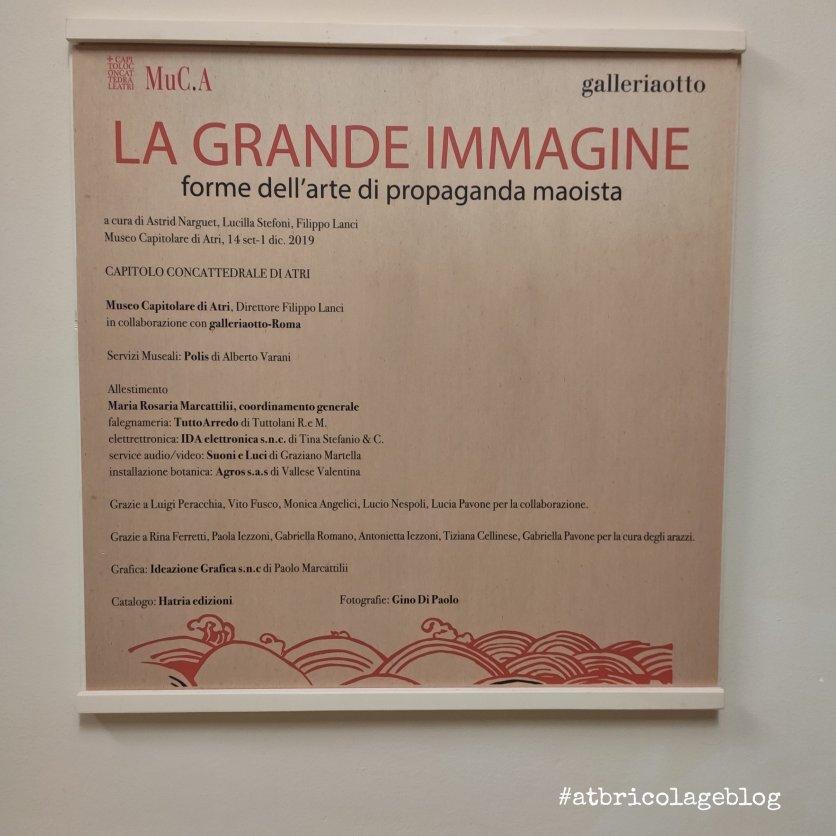 """La grande immagine – forme dell'arte di propaganda maoista"""" a cura di Astrid Narguet, Lucilla Stefoni, Filippo Lanci, Museo Capitolare, Atri - ph. Amalia Temperini"""