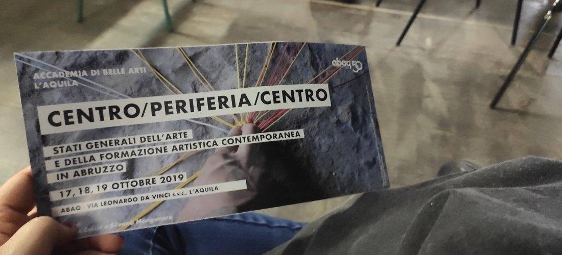 manifesto, stati generali arte contemporanea abruzzo ph. Amalia Temperini