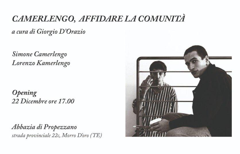 Camerlengo. Affidare la comunità a cura di Giorgio D'Orazio, Abbazia di Propezzano, Morro d'oro (TE)