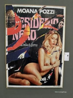 Mimmo Rotella, Desiderio Nero, 2002, Galleria Glauco Cavaciuti Arte - Arte Fiera 2020, Bologna - ph. Amalia Temperini