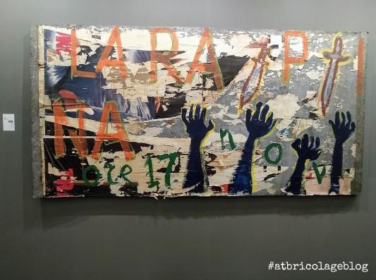 Mimmo Rotella, La rapina, 1987, Galleria Glauco Cavaciuti Arte - Arte Fiera 2020, Bologna - ph. Amalia Temperini