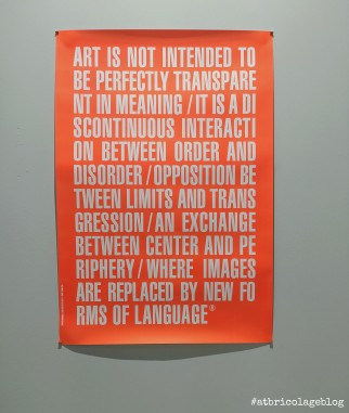 Maurizio Nannucci, Art is not intende to be perfectly trasparent in meaning, 2016, poster - Arte Fiera 2020, Bologna - ph. Amalia Temperini