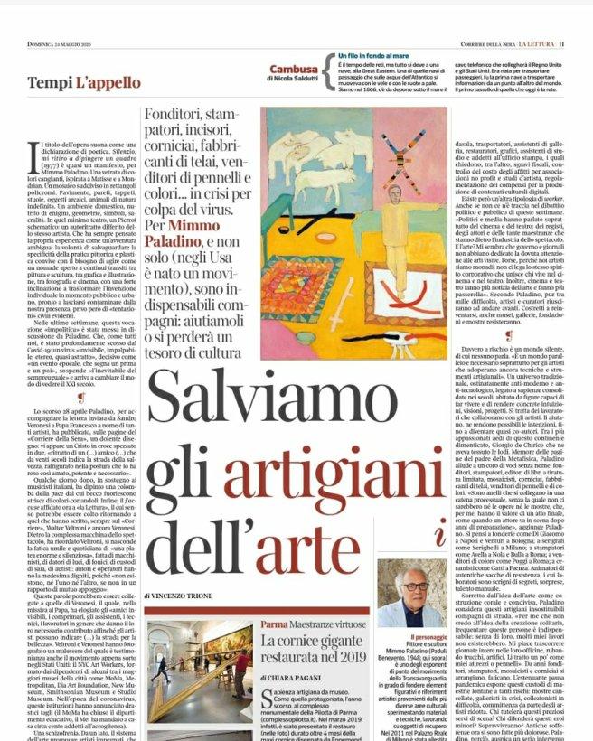 Vicenzo Trione, La Lettura - screenshot. Amalia Temperini