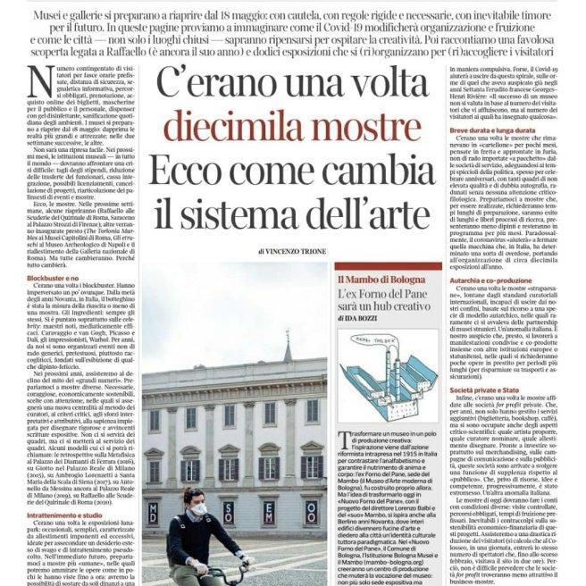 La Lettura, domenica 17 maggio, vincenzo trione, arte_
