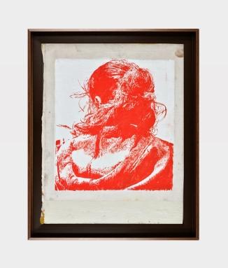 COMRADE RED Ian Tweeedy Arrangements of Forgotten Stories 2020 oil on book cover 26.5 x 20.5 cm
