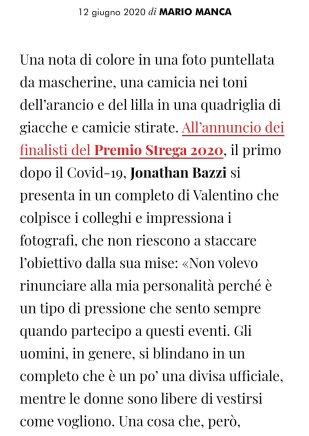 vanity fair, screeshot articolo Jonathan bazzi