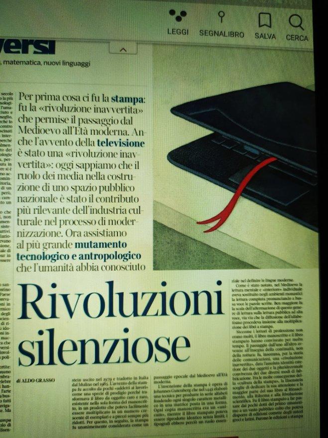 Aldo Grasso, la lettura, novembre 2020 - ph.Amalia Temperini