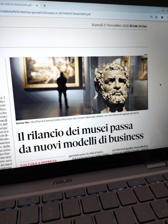 il sole 24 ore, il rilancio dei musei passa dai nuovi modelli di business - ph. Amalia Temperini