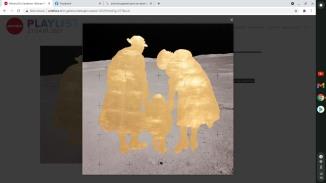 ALLUNATI #14 Rä di Martino 2020 composition leaf, archival pigment print on aluminium 99 × 99 cm