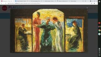 TRITTICO. VENERIAMO LA MADRE Umberto Boccioni 1907-1908 Olio su tavola 27 x 56 cm Bottegantica - Milano