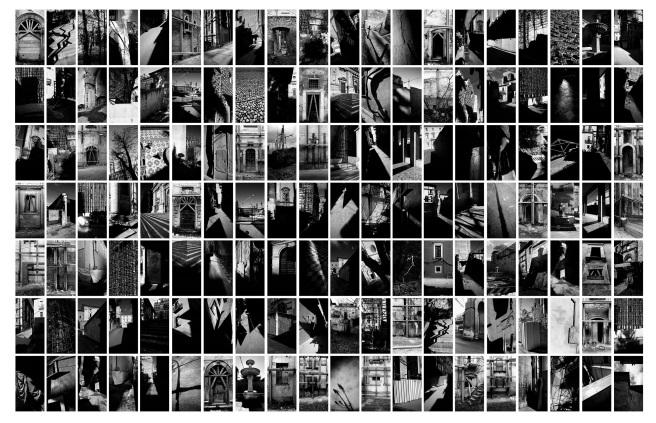 11 Paolo Pellegrin L'Aquila, gennaio 2018 / 2020 Polittico composto da 140 fotografie stampa Fine Art su carta satin montata su dibond Paolo Pellegrin, L'Aquila, 2018, © Paolo Pellegrin / Magnum