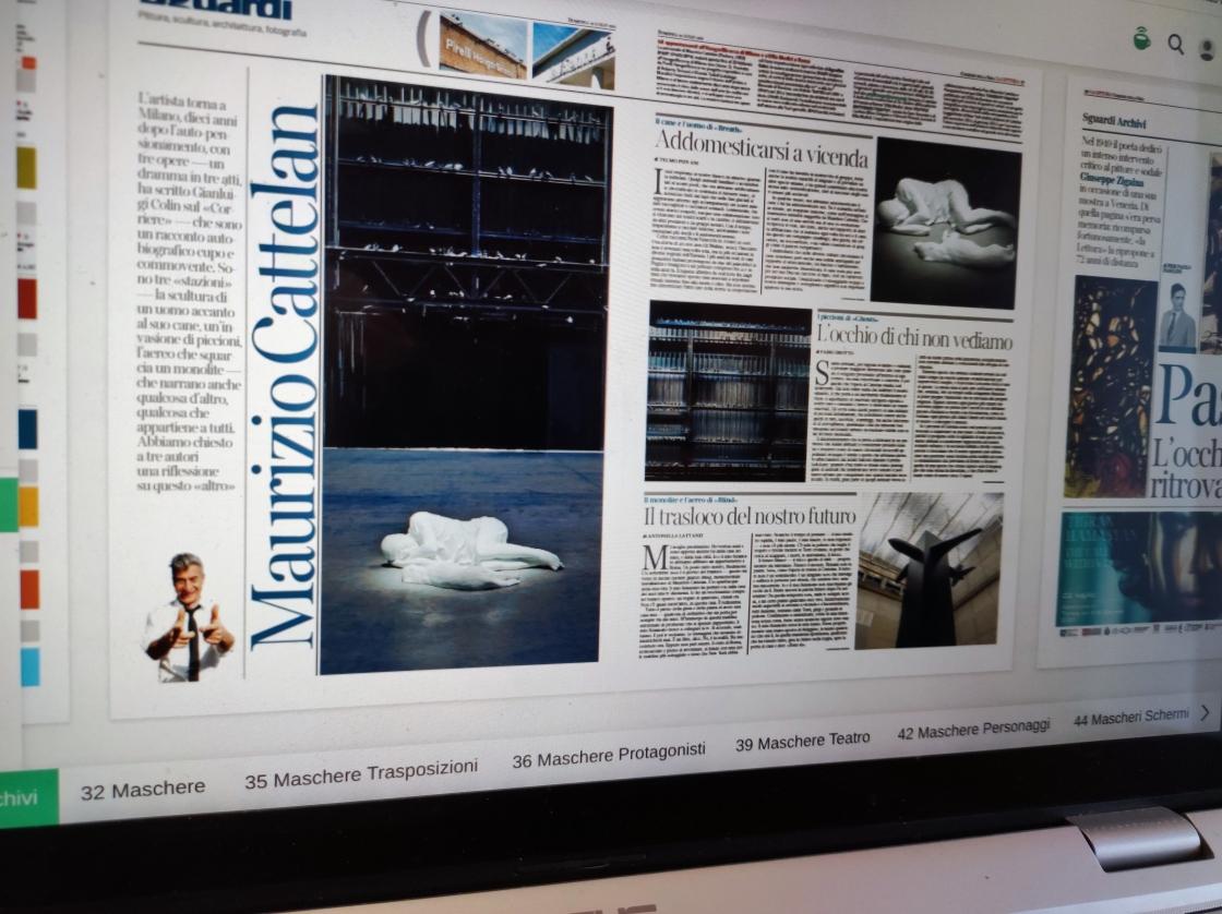 Lalettura, Corriere della Sera (Screenshot), domenica 18 luglio 2021